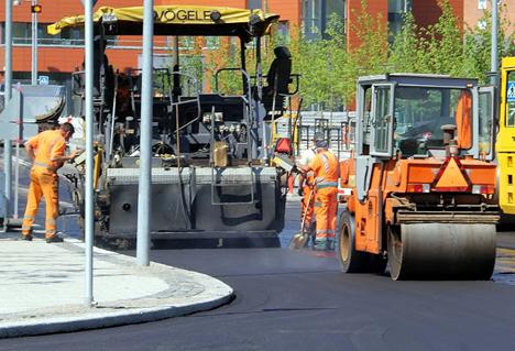 Nyt asfalt på Forumvej